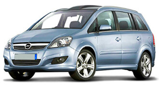 Opel Zafira rental from LowCostCars